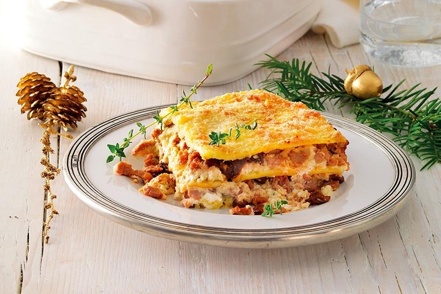 Lasagne-di-patate-ragù-di-vitello-e-ricotta-al-timo