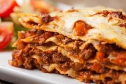 Nahaufnahme einer italienische Lasagne